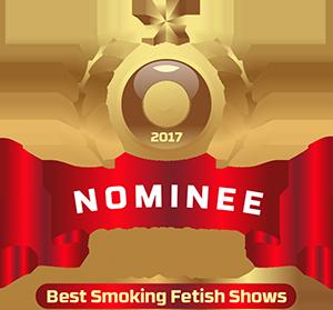 Naughty Natali, adult web cam awards 2017 Nominee for best smoking fetish model